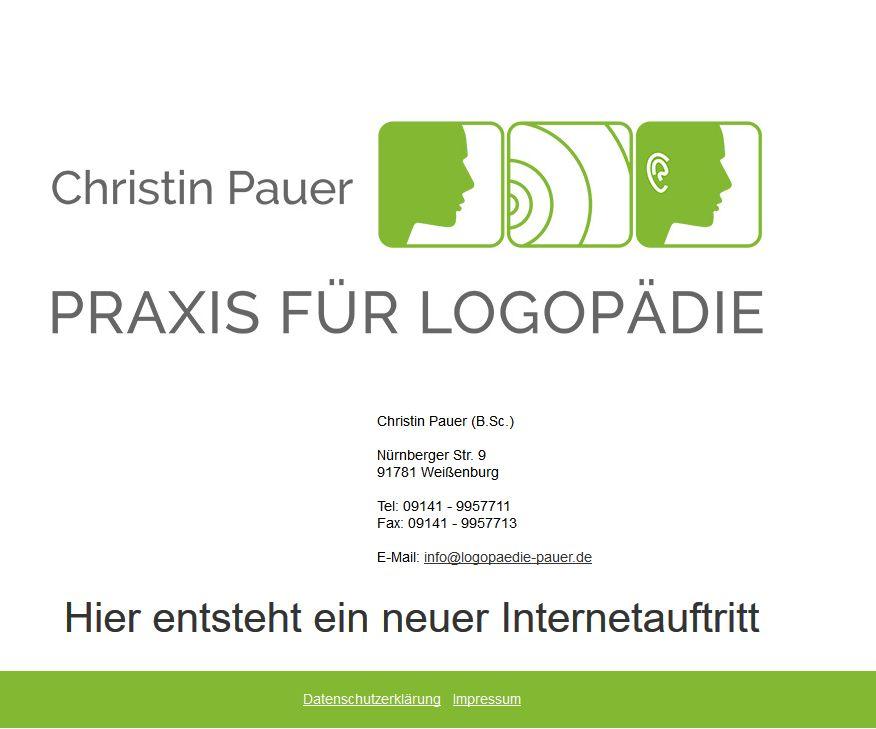Logopädie Christin Pauer, Weißenburg